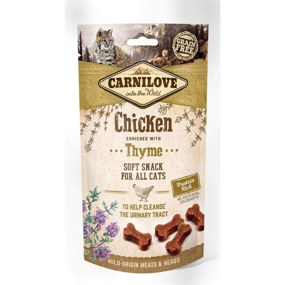 Carnilove Chicken With Thyme Soft Snack Cat Treats 50g