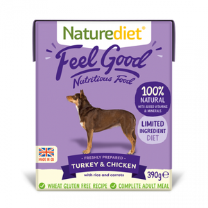 Naturediet Feelgood Turkey & Chicken 390g