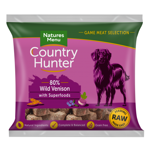 Country Hunter Raw Frozen Nuggets Venison & Blueberry 1kg