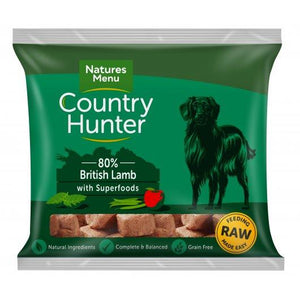 Country Hunter Dog Raw Frozen Nuggets British Lamb 1kg