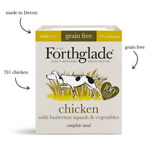 Load image into Gallery viewer, Forthglade Complete; Chicken, Turkey & Chicken With Liver Natural Wet Dog Food Variety Pack (12x395g)