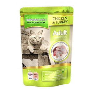 Natures Menu Adult Cat Pouches Chicken & Turkey 12x100g