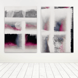 Set of 2 prints Abstract Canvas Art Niky Rahner