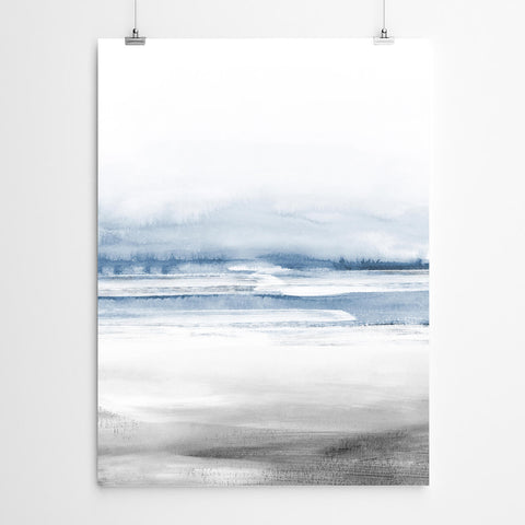 Abstract Beach Wall Art Print