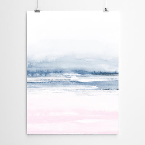 Abstract Beach Sunrise Wall Art