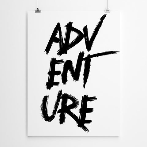 Adventure Typography Art Print