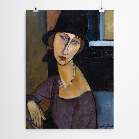 Amedeo Modigliani- Woman With A Hat And Necklace