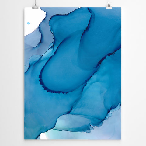 Aqua Abstract Canvas Wall Art
