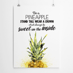 Art print Be A Pineapple Johannesburg