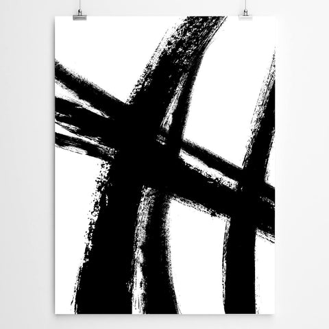 Black and white abstract canvas art