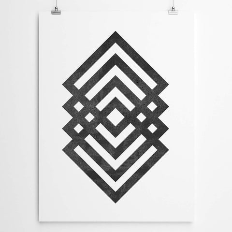 Geometric art durban wall print