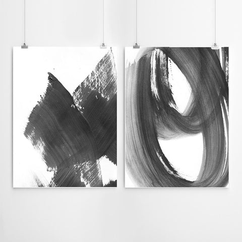Brush Abstract Wall Art Set