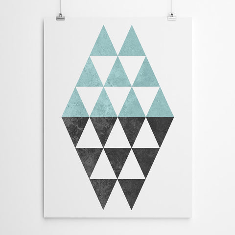 Blue Triangle Print