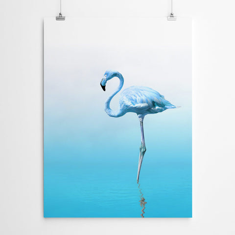 Blue Flamingo Wall Art