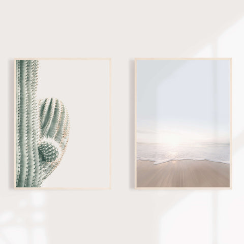 Cactus And Beach Coastal Wall Decor