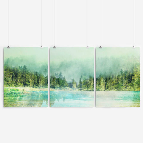 Forest And Lake Art Set