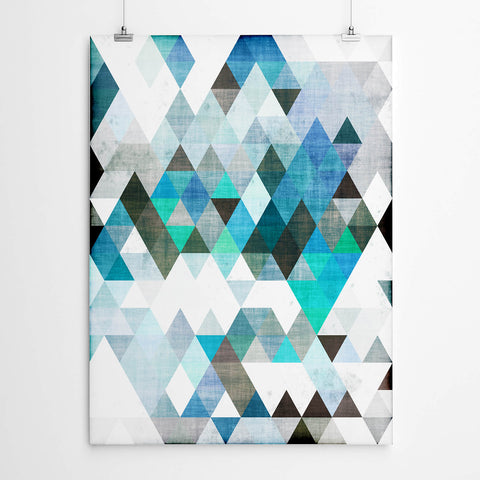 Triangles Geometric Art Print