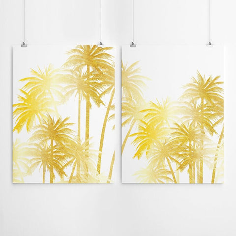 Gold Palm Tree Art Print