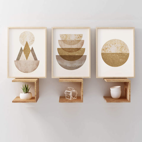 ochre geometric art set