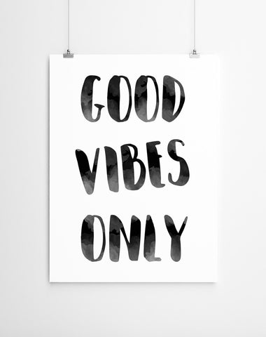 good vibes only art poster