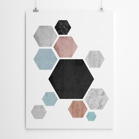 Hexagon Wall Art Print