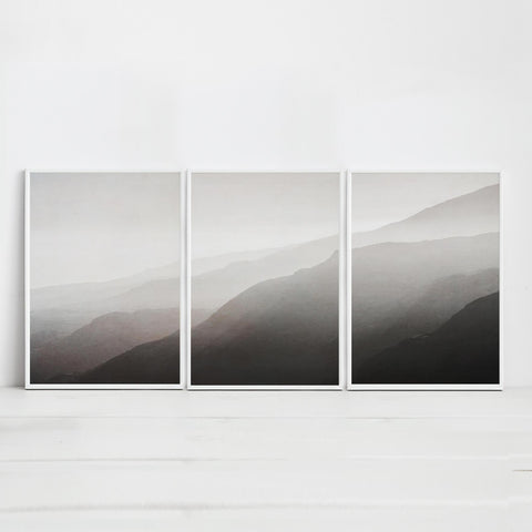 Set of three landscape art prints