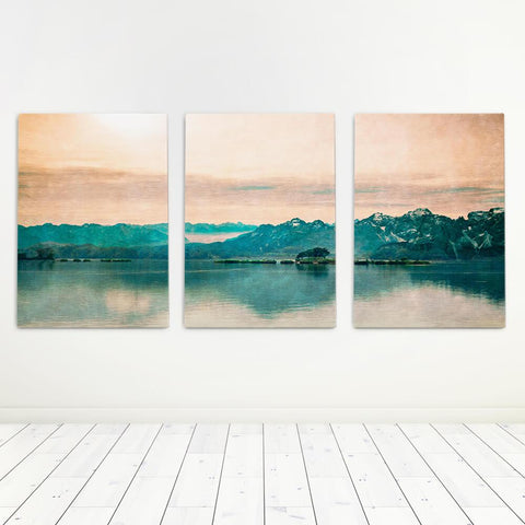 Mountain Sunset Art Set Canvas