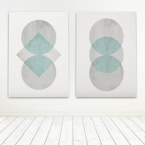 Pastel Abstract Art Set Canvas