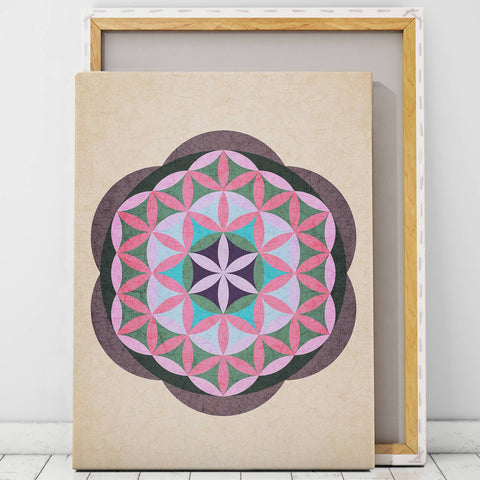 Sacred Geometry Art Canvas