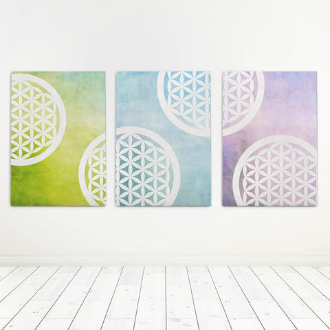 Sacred Geometry Canvas Set