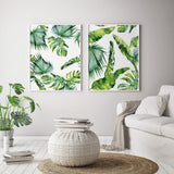 Tropical Leaf Canvas Art