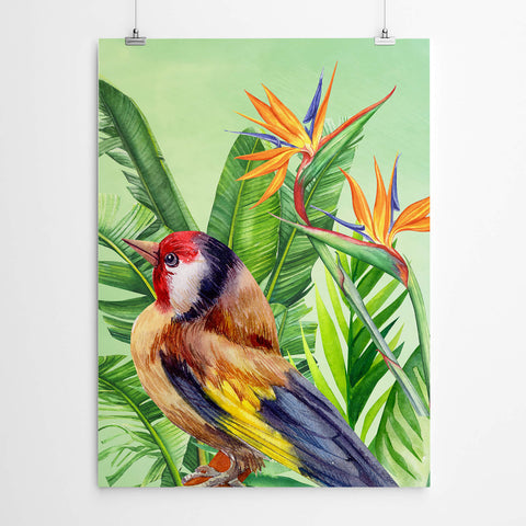 Watercolour Bird Wall Art