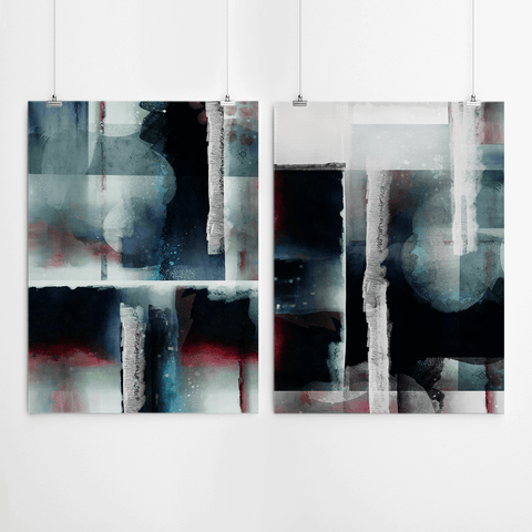2 piece set wall decor abstract canvas wall art