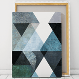 abstract geometric art canvas wall art