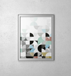 Retro Geometric Abstract Art