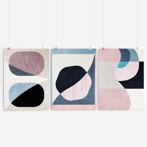 Abstract Geometric Wall Art Set