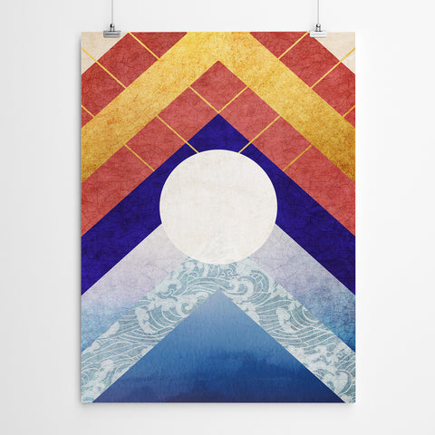 Geometric Canvas Art Print
