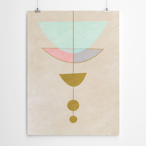 Pastel Geometric Wall Art
