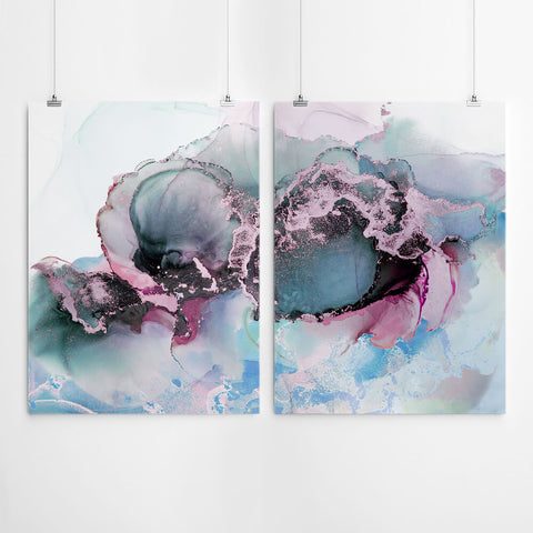 Ink Abstract Wall Art Set