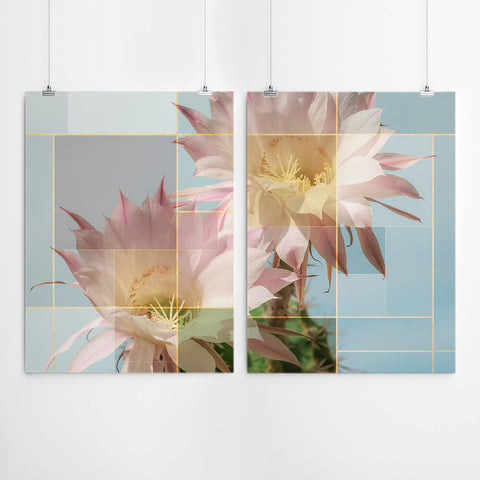 Bauhaus Style Flower Wall Art Set