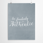 Motivational Typography Wall Art Print