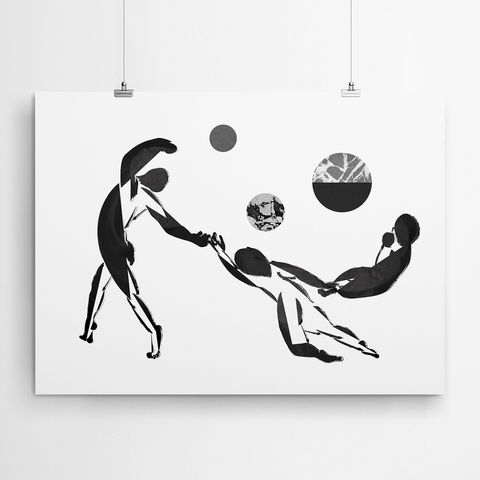 Contemporary Figurative Wall Art Canvas Print