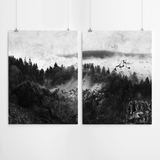 black-and-white-forest-art