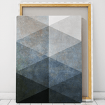 canvas black and white geometric art wall art