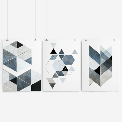 black-and-white-geometric-wall-art