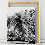 black and white palm tree print wall art