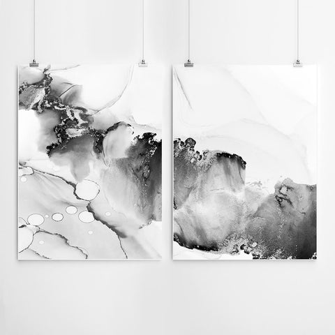 Black & White Abstract Art Set
