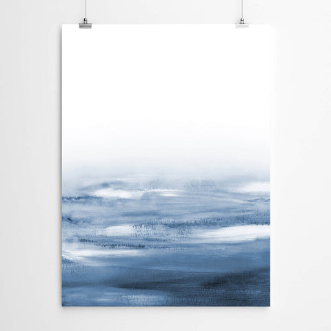 Blue Abstract Beach Wall Art