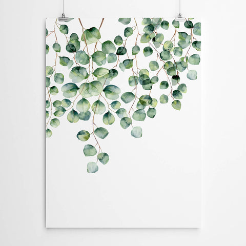 Silver Dollar Eucalyptus Wall Art