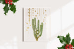Christmas Decorations Cactus Print